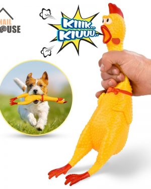 Screaming Chicken Dog Toys – Squeeze Squeaky Sound